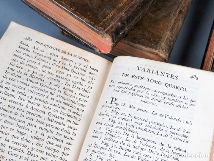 Libros antiguos: EL INGENIOSO HIDALGO DON QUIXOTE DE LA MANCHA-M. DE CERVANTES SAAVEDRA-4TOMOS-MADRID 1782 - Foto 32 - 236511435