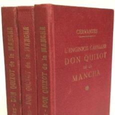 Libros antiguos: L'ENGINYÓS CAVALLER DON QUIXOT DE LA MANCHA. - CERVANTES.. Lote 237095005