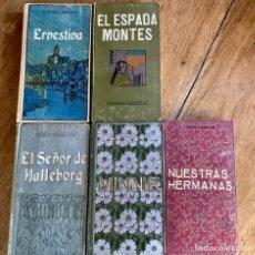 Libros antiguos: 5 LIBROS DOMENECH EDITOR/NUESTRAS HERMANAS, MINNIE, EL SEÑOR DE HALLEBORG,EL ESPADA MONTES,ERNESTINA. Lote 237641365