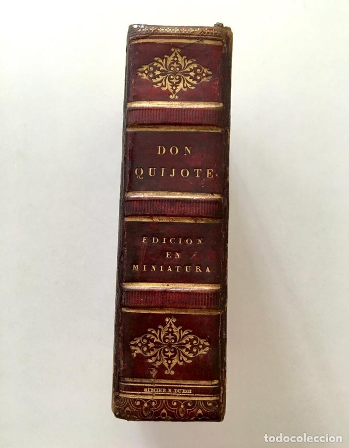"""Libros antiguos: Impresionante """"D. Quijoje"""", edición en miniatura 1827 - Foto 5 - 237957445"""