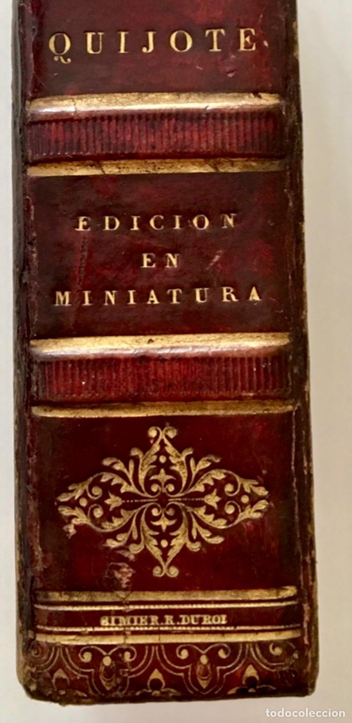 """Libros antiguos: Impresionante """"D. Quijoje"""", edición en miniatura 1827 - Foto 6 - 237957445"""