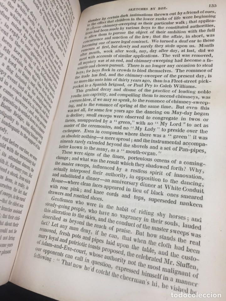 """Libros antiguos: Sketches By """" Boz"""" Charles Dickens. 1839. Baudrys European Library. en inglés. - Foto 4 - 239612045"""