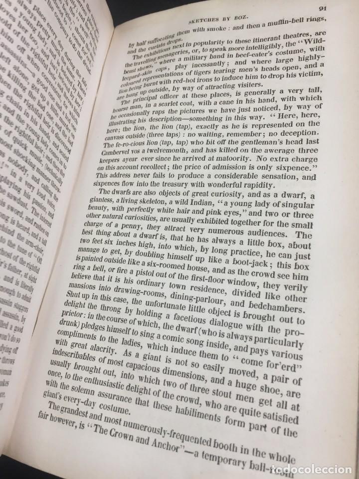 """Libros antiguos: Sketches By """" Boz"""" Charles Dickens. 1839. Baudrys European Library. en inglés. - Foto 6 - 239612045"""