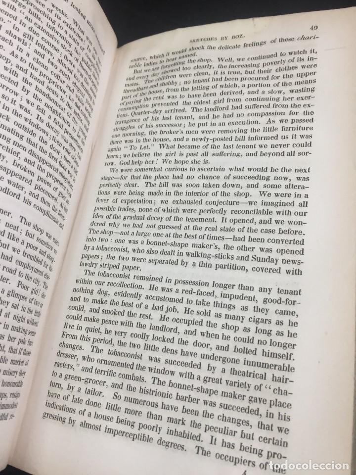 """Libros antiguos: Sketches By """" Boz"""" Charles Dickens. 1839. Baudrys European Library. en inglés. - Foto 7 - 239612045"""