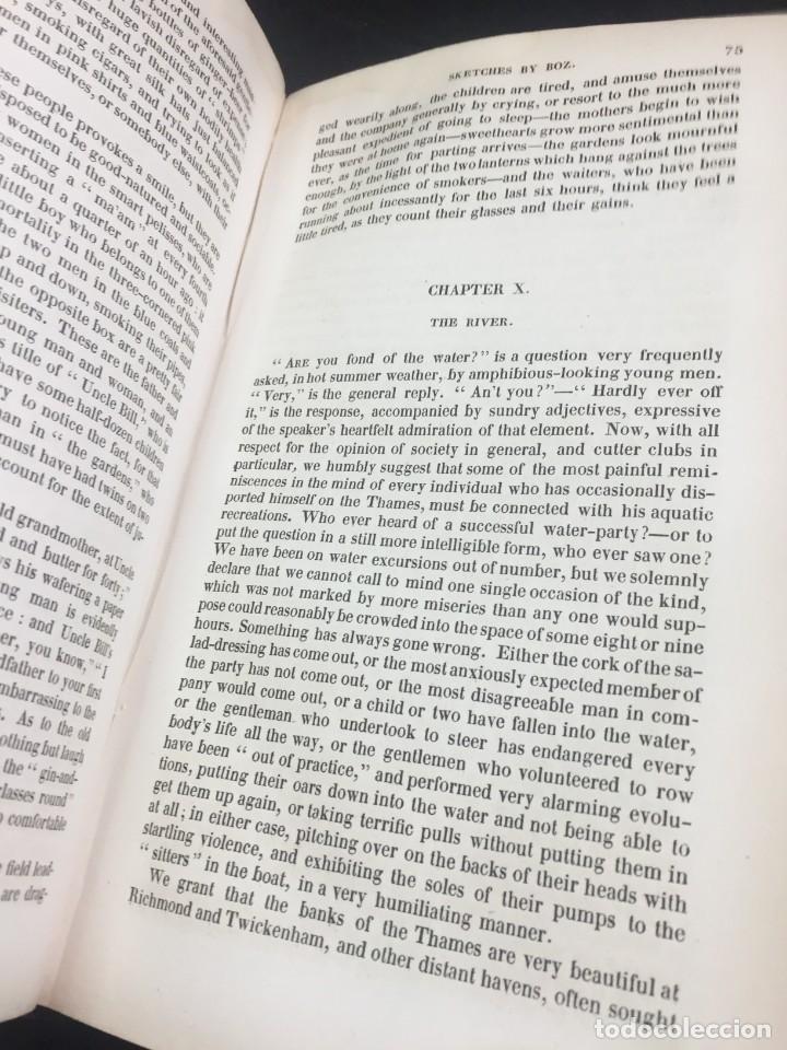 """Libros antiguos: Sketches By """" Boz"""" Charles Dickens. 1839. Baudrys European Library. en inglés. - Foto 8 - 239612045"""