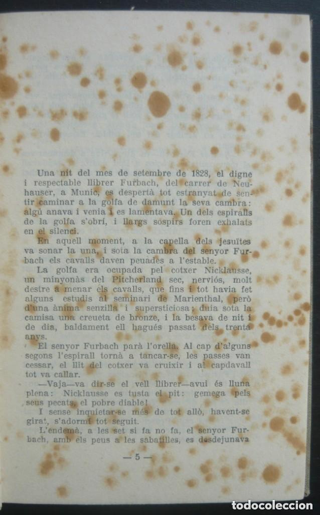Libros antiguos: 1910 - Erckmann-Chatrian: El Tresor del Vell Cavaller - Barcelona, Ed. Catalana - Tela - Foto 4 - 263230190