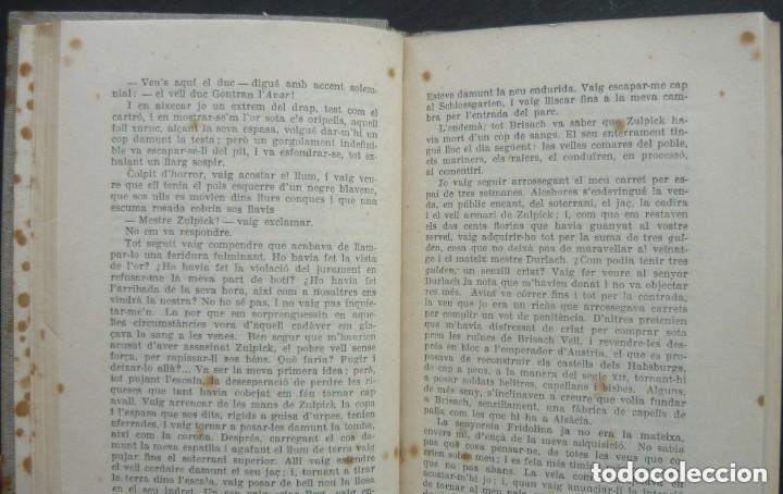 Libros antiguos: 1910 - Erckmann-Chatrian: El Tresor del Vell Cavaller - Barcelona, Ed. Catalana - Tela - Foto 5 - 263230190