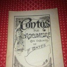 Livros antigos: CONTOS POR ASIEUMEDRE - DIBUXOS DE F. CORTÉS - EN GALLEGO - AÑOS 20 - BUEN ESTADO. Lote 243493245