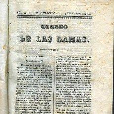 Libros antiguos: CORREO DE LAS DAMAS PERIODICO (SEMANAL) 1835. Lote 243630355