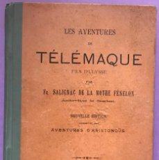 Libros antiguos: LES AVENTURES DE TÉLÉMAQUE. SALIGNAC DE LA MOTHE FÉNELON. LIBRERÍA DE PERLADO. MADRID. 1903. Lote 243829265