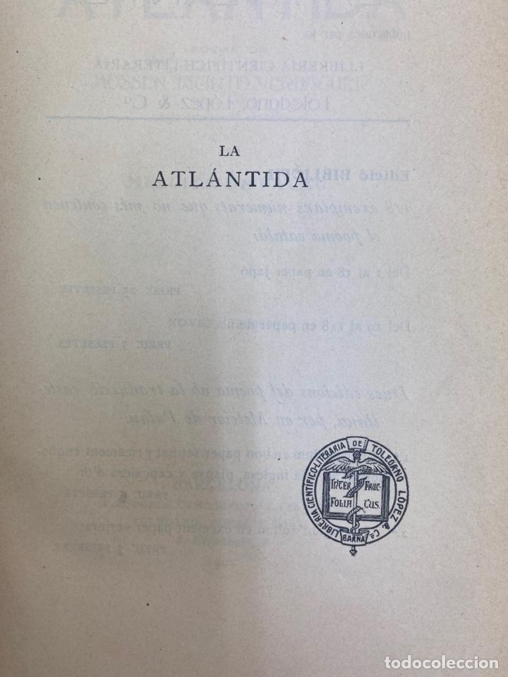 Libros antiguos: L-5486. LA ATLANTIDA, J.VERDAGUER. TRADUCCIO CASTELLANA PER MELCIOR DE PALAU. 1905. - Foto 3 - 244176120