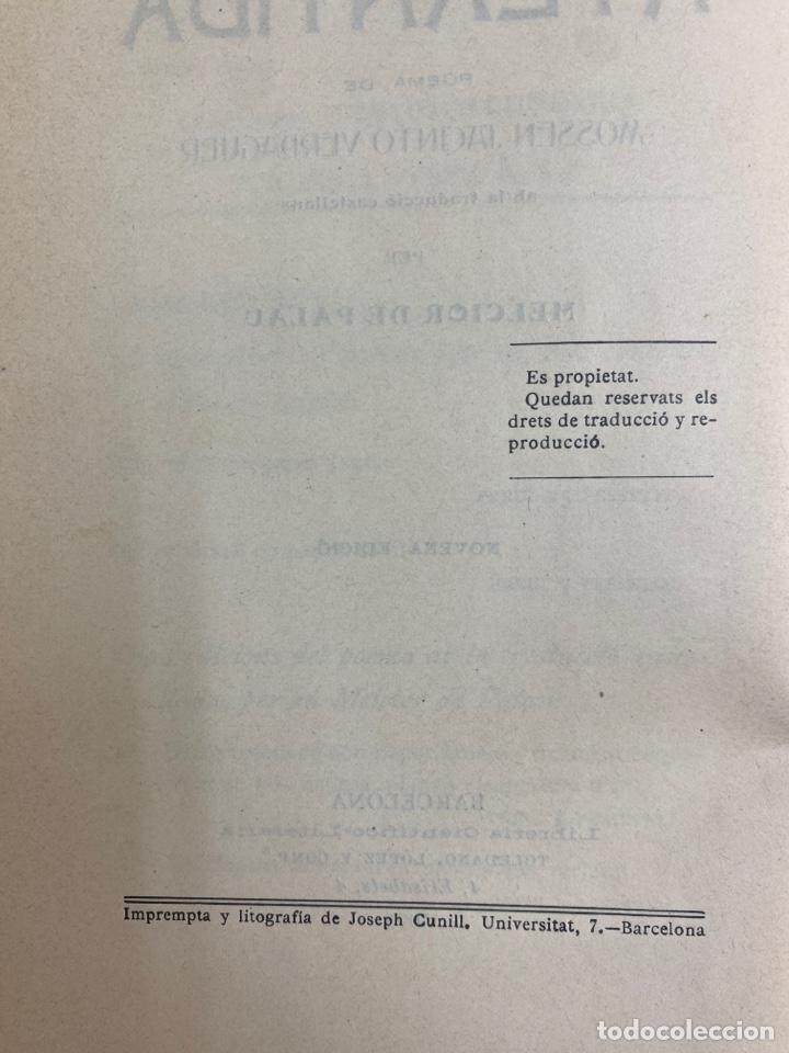 Libros antiguos: L-5486. LA ATLANTIDA, J.VERDAGUER. TRADUCCIO CASTELLANA PER MELCIOR DE PALAU. 1905. - Foto 6 - 244176120
