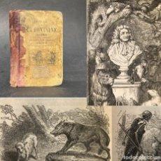 Libros antiguos: AÑO 1881 - FÁBULAS DE LA FONTAINE CON 105 PEQUEÑOS GRABADOS. Lote 244417650