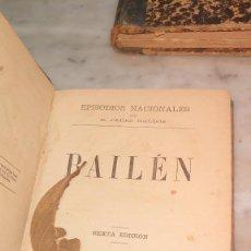 Libros antiguos: PRPM 43 BENITO PEREZ GALDOS BAILEN EPISODIOS NACIONALES MADRID 1888. Lote 244448285