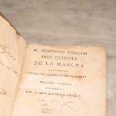 Libros antiguos: PRPM 43 EL INGENIOSO HIDALGO DON QUIXOTE DE LA MANCHA. CERVANTES. TOMO II .VIUDA DE IBARRA. 1787. Lote 244451650