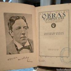 Libros antiguos: OSCAR WILDE. OBRAS.(UN MARIDO IDEAL DE /LA IMPORTANCIA DE LLAMARSE ERNESTO). 1923 .ATENEA. Lote 244624860