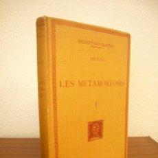 Libros antiguos: APULEU: LES METAMORFOSIS, I . TEXT I TRADUCCIÓ (FUND. BERNAT METGE, ESCRIPTORS LLATINS, 1929). Lote 244887435