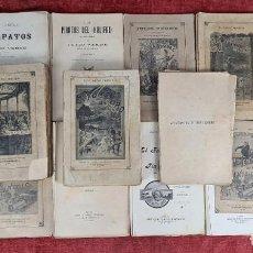Libros antiguos: 14 NOVELAS DE JULIO VERNE. SIN ENCUADERNAR. S/F. EDIT. SAENZ DE JUBERA. MADRID.. Lote 244967215
