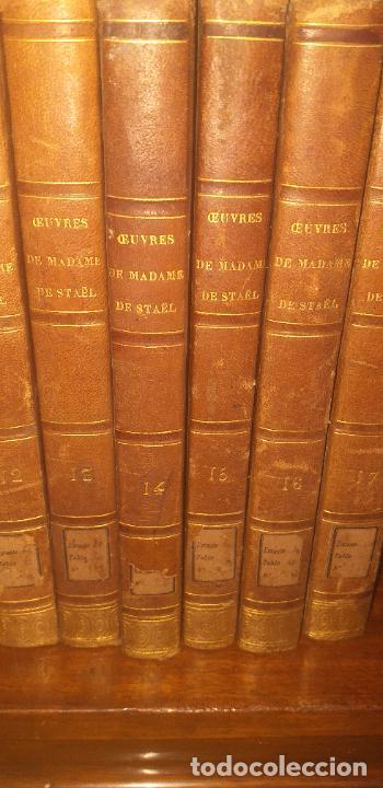 Libros antiguos: MADAME DE STAEL OBRAS COMPLETAS PUBLICADAS POR SU HIJO 1830 UNICOS EJEMPLARES FIRMADAS POR SU PROPIE - Foto 11 - 245077080