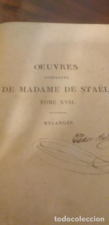 Libros antiguos: MADAME DE STAEL OBRAS COMPLETAS PUBLICADAS POR SU HIJO 1830 UNICOS EJEMPLARES FIRMADAS POR SU PROPIE - Foto 13 - 245077080
