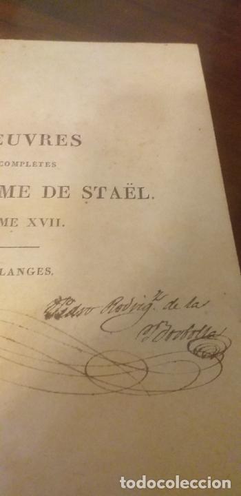 Libros antiguos: MADAME DE STAEL OBRAS COMPLETAS PUBLICADAS POR SU HIJO 1830 UNICOS EJEMPLARES FIRMADAS POR SU PROPIE - Foto 14 - 245077080