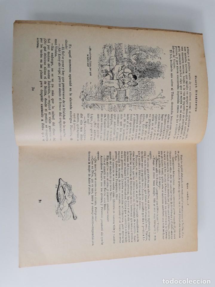 Libros antiguos: L-5920. QUO VADIS…? NOVELA DE LOS TIEMPOS DE NERÓN. HENRIK SIENKIEWICZ.1923.ADAPTACION ESPAÑOLA. - Foto 4 - 245423425