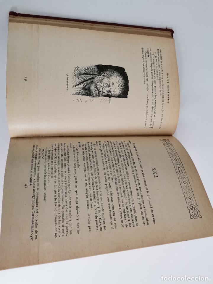 Libros antiguos: L-5920. QUO VADIS…? NOVELA DE LOS TIEMPOS DE NERÓN. HENRIK SIENKIEWICZ.1923.ADAPTACION ESPAÑOLA. - Foto 5 - 245423425