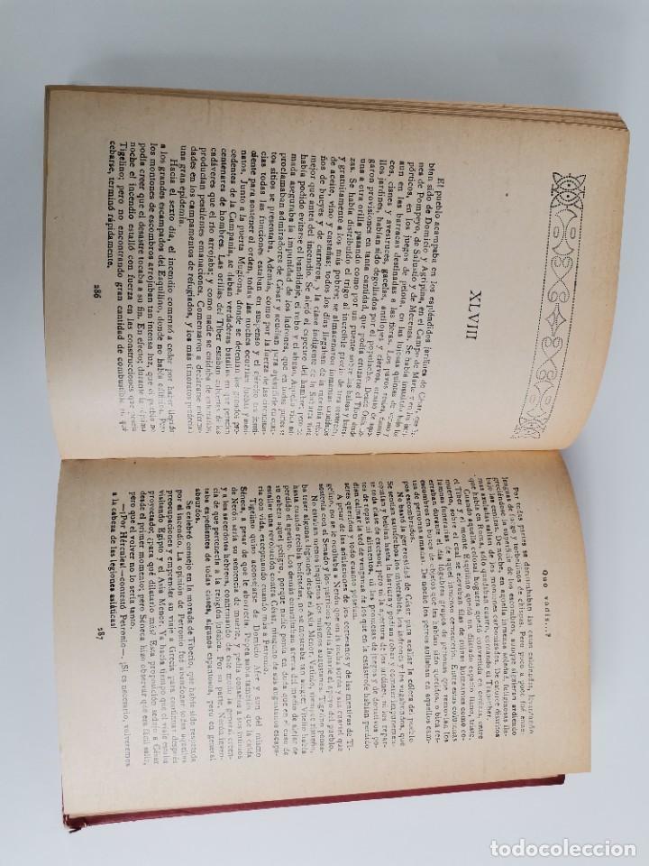 Libros antiguos: L-5920. QUO VADIS…? NOVELA DE LOS TIEMPOS DE NERÓN. HENRIK SIENKIEWICZ.1923.ADAPTACION ESPAÑOLA. - Foto 7 - 245423425