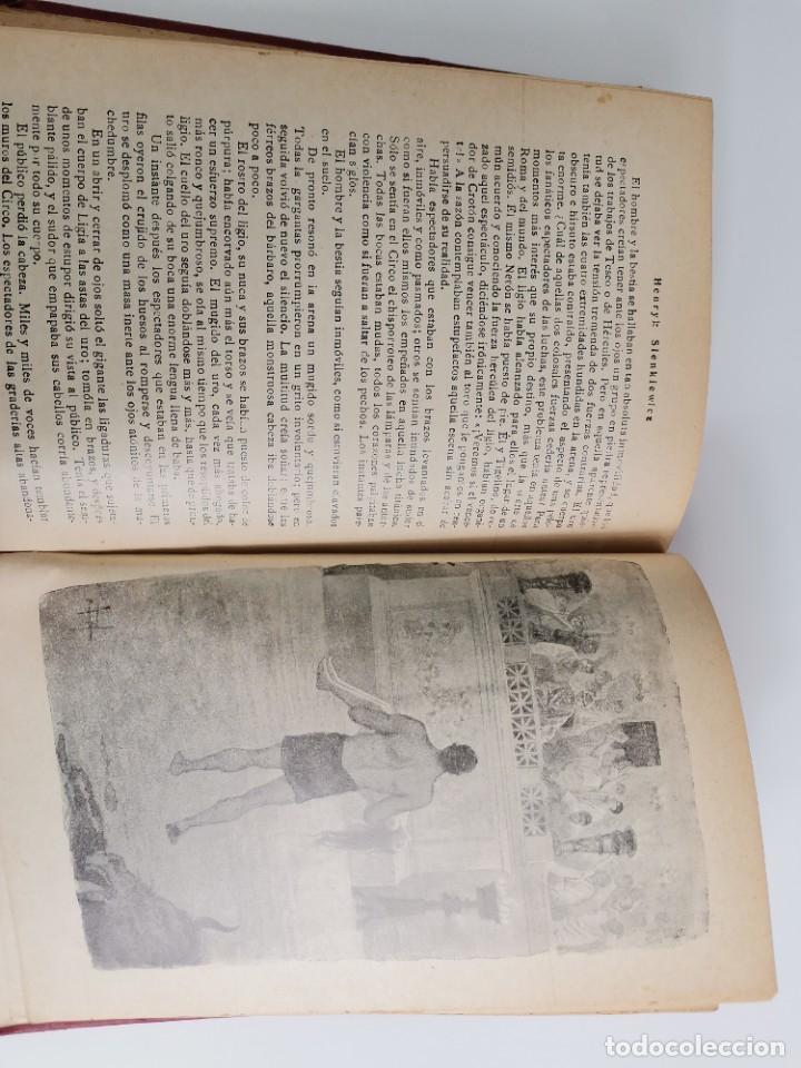 Libros antiguos: L-5920. QUO VADIS…? NOVELA DE LOS TIEMPOS DE NERÓN. HENRIK SIENKIEWICZ.1923.ADAPTACION ESPAÑOLA. - Foto 8 - 245423425