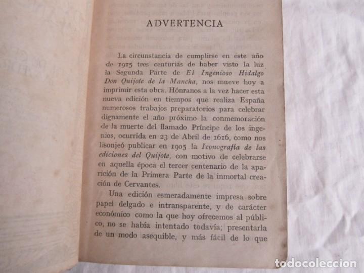 Libros antiguos: Don Quijote de la Mancha, 1915, Labarta - Foto 10 - 245458200