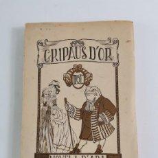 Libros antiguos: GRIPAUS D'OR,NOVELA D'ARA.M.DOMENECH DE CAÑELLAS.1919.DEDICAT PER L'AUTORA.. Lote 246506205