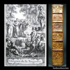 Libros antiguos: AÑO 1749 SÉNECA SÓFOCLES ELECTRA EDIPO ORIGEN TEATRO ANTIGUA GRECIA GRABADO SOLO 2 EN EL MUNDO. Lote 246595580