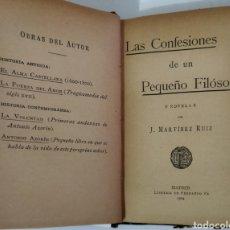 Libros antiguos: LAS CONFESIONES DE UN PEQUEÑO FILOSOFO.AZORIN 1 ED. 1904. Lote 247597370