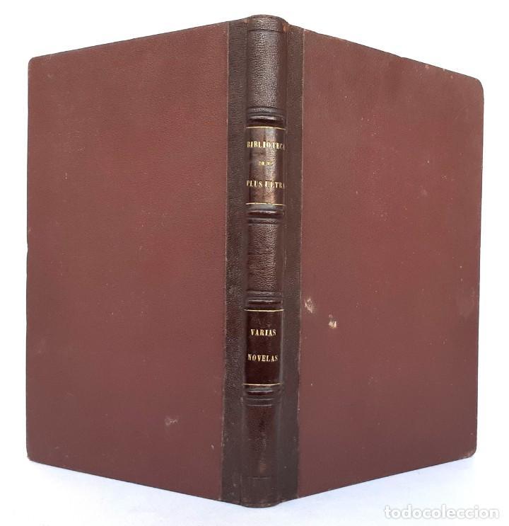 Libros antiguos: 1875 - Bernardino de Saint-Pierre: Pablo y Virginia + Novelas de Gustavo Aimard - Grabados - Piel - Foto 2 - 263229370