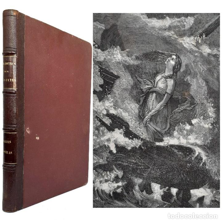 Libros antiguos: 1875 - Bernardino de Saint-Pierre: Pablo y Virginia + Novelas de Gustavo Aimard - Grabados - Piel - Foto 24 - 263229370