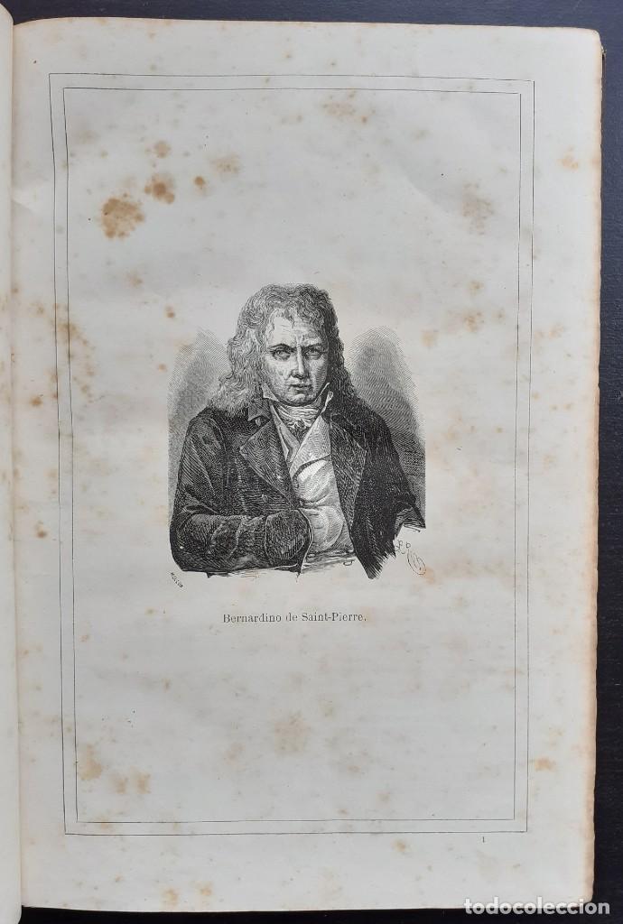 Libros antiguos: 1875 - Bernardino de Saint-Pierre: Pablo y Virginia + Novelas de Gustavo Aimard - Grabados - Piel - Foto 5 - 263229370