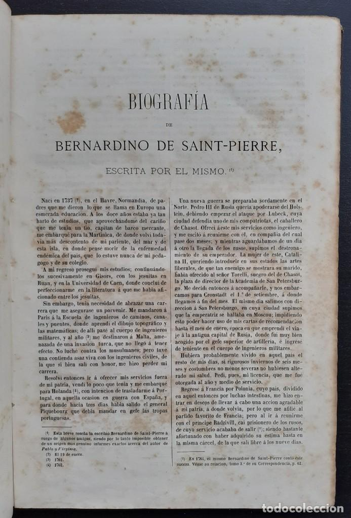 Libros antiguos: 1875 - Bernardino de Saint-Pierre: Pablo y Virginia + Novelas de Gustavo Aimard - Grabados - Piel - Foto 6 - 263229370