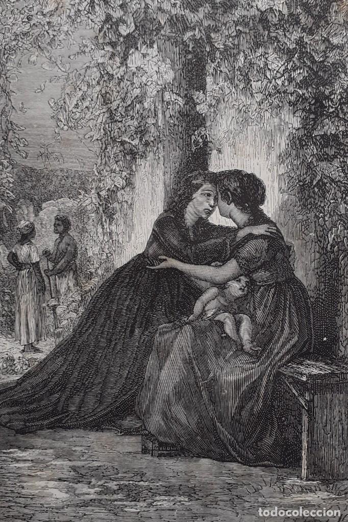 Libros antiguos: 1875 - Bernardino de Saint-Pierre: Pablo y Virginia + Novelas de Gustavo Aimard - Grabados - Piel - Foto 9 - 263229370