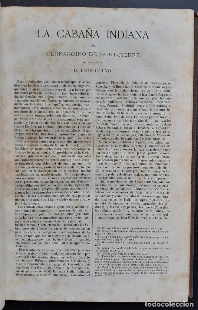 Libros antiguos: 1875 - Bernardino de Saint-Pierre: Pablo y Virginia + Novelas de Gustavo Aimard - Grabados - Piel - Foto 12 - 263229370
