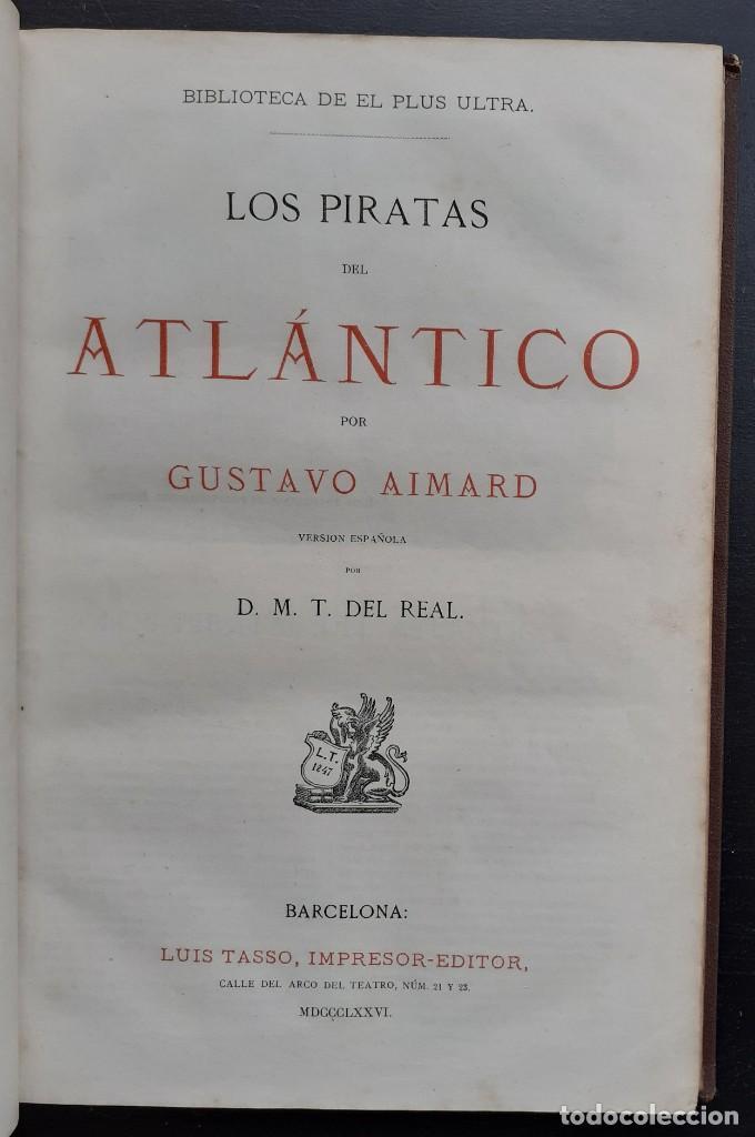 Libros antiguos: 1875 - Bernardino de Saint-Pierre: Pablo y Virginia + Novelas de Gustavo Aimard - Grabados - Piel - Foto 13 - 263229370