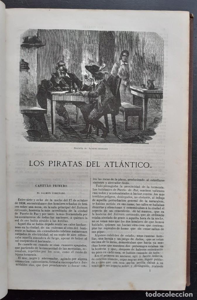 Libros antiguos: 1875 - Bernardino de Saint-Pierre: Pablo y Virginia + Novelas de Gustavo Aimard - Grabados - Piel - Foto 14 - 263229370