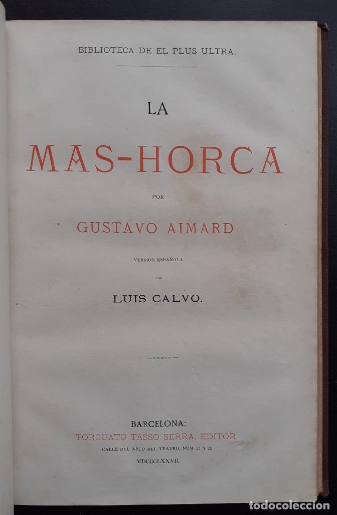 Libros antiguos: 1875 - Bernardino de Saint-Pierre: Pablo y Virginia + Novelas de Gustavo Aimard - Grabados - Piel - Foto 16 - 263229370