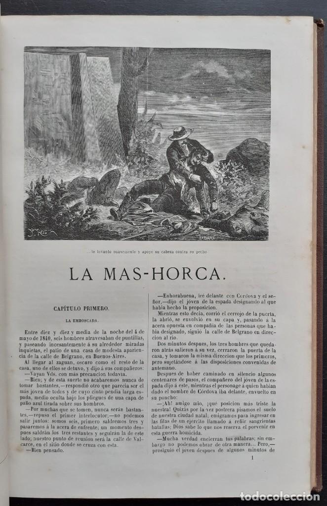 Libros antiguos: 1875 - Bernardino de Saint-Pierre: Pablo y Virginia + Novelas de Gustavo Aimard - Grabados - Piel - Foto 17 - 263229370