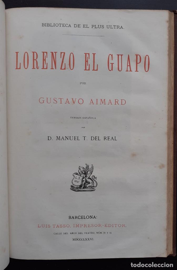 Libros antiguos: 1875 - Bernardino de Saint-Pierre: Pablo y Virginia + Novelas de Gustavo Aimard - Grabados - Piel - Foto 19 - 263229370