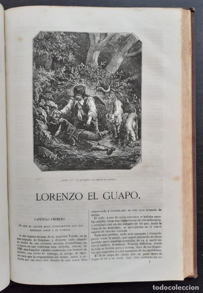 Libros antiguos: 1875 - Bernardino de Saint-Pierre: Pablo y Virginia + Novelas de Gustavo Aimard - Grabados - Piel - Foto 20 - 263229370