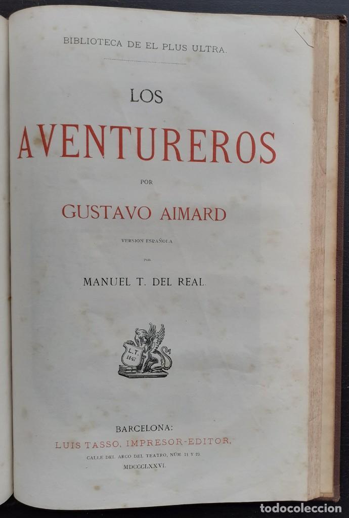 Libros antiguos: 1875 - Bernardino de Saint-Pierre: Pablo y Virginia + Novelas de Gustavo Aimard - Grabados - Piel - Foto 21 - 263229370