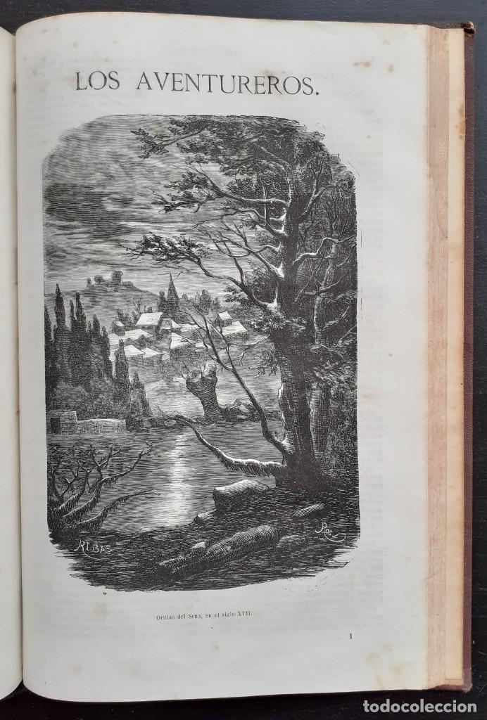 Libros antiguos: 1875 - Bernardino de Saint-Pierre: Pablo y Virginia + Novelas de Gustavo Aimard - Grabados - Piel - Foto 22 - 263229370