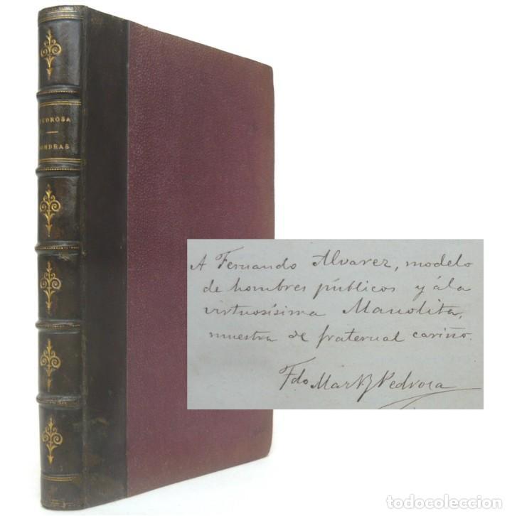 Libros antiguos: 1878. 1ª Ed. ¡Dedicado por el Autor! - Martínez Pedrosa: Sombras. Rasgos de la Fisonomía Social - Foto 11 - 263228855