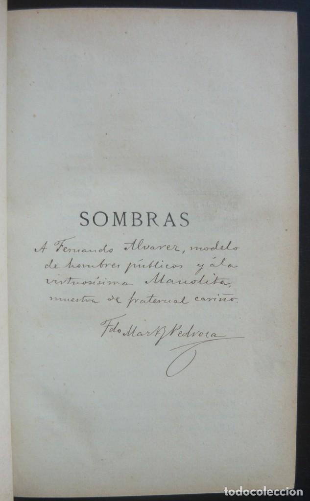 Libros antiguos: 1878. 1ª Ed. ¡Dedicado por el Autor! - Martínez Pedrosa: Sombras. Rasgos de la Fisonomía Social - Foto 4 - 263228855