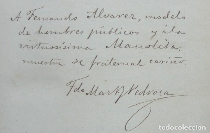 Libros antiguos: 1878. 1ª Ed. ¡Dedicado por el Autor! - Martínez Pedrosa: Sombras. Rasgos de la Fisonomía Social - Foto 5 - 263228855